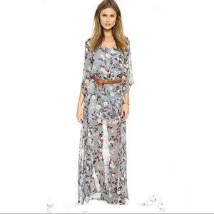 Jack by BB Dakota dress maxi floral long sleeve M